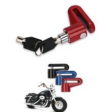 Motorcycle Bicycle Sturdy Wheel Disc Brake Lock Security Anti Thief Alarm Motorcycl Anti theft Disk Disc Brake Rotor Lock