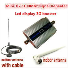Scorching ! LCD Household WCDMA UMTS 3G 2100 MHz 2100MHz Cellular Telephone Sign Booster Repeater Cell Telephone Amplifier with Antenna+10M Cable