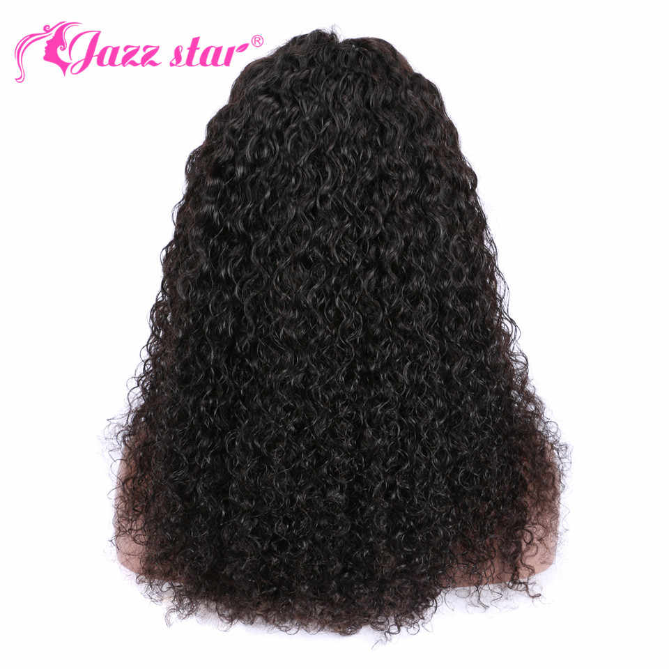 Braziliaanse Pruik 4X4 Vetersluiting Pruik Kinky Krullend Menselijk Haar Pruik Preplucked Menselijk Haar Pruiken Voor Zwarte Vrouwen non-Remy Jazz Ster Haar