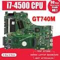 Para ASUS X750LN X750LB X750L K750L A750L portátil placa base Placa base con GT740M/2 GB i7-4500U/I7-4510U prueba 100% bien.