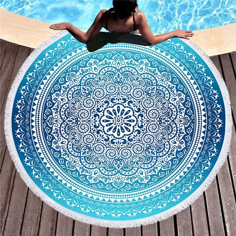 Saugfähigen Schwimmen Handtuch Für Strand Handtuch Erwachsene Mikrofaser Quaste Böhmen Mandala Decke Große Tapisserie Yoga-matten Strand Abdeckung
