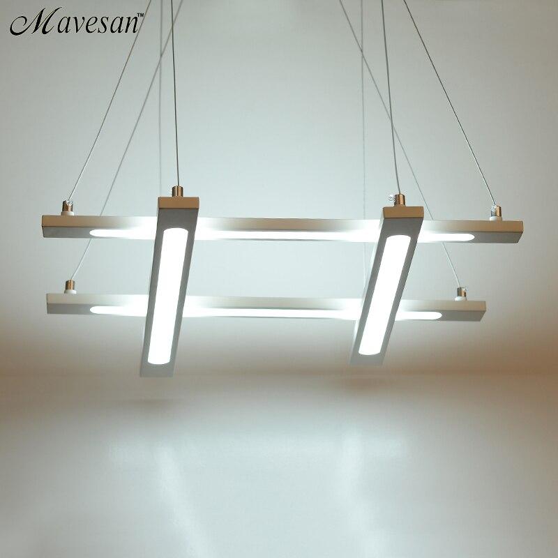 moderno led lampade a sospensione per la sala da pranzo rotondo acrilico cerchio lampada a sospensione