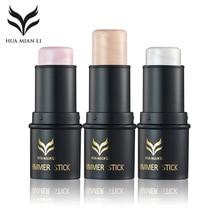 HUAMIANLI Contour Face Makeup Shimmer Highlighter Foundation Stick Pen Creamy Concealer Cosmetics Powder