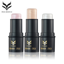 HUAMIANLI Contour Face Makeup Shimmer Highlighter Foundation Stick Pen Naked Creamy Concealer Cosmetics Powder