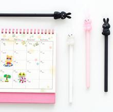6 pcs/pack Lovely Animal Peter Rabbit 0.5mm Gel Pen Ink Pen Promotional Gift Stationery School & Office Supply