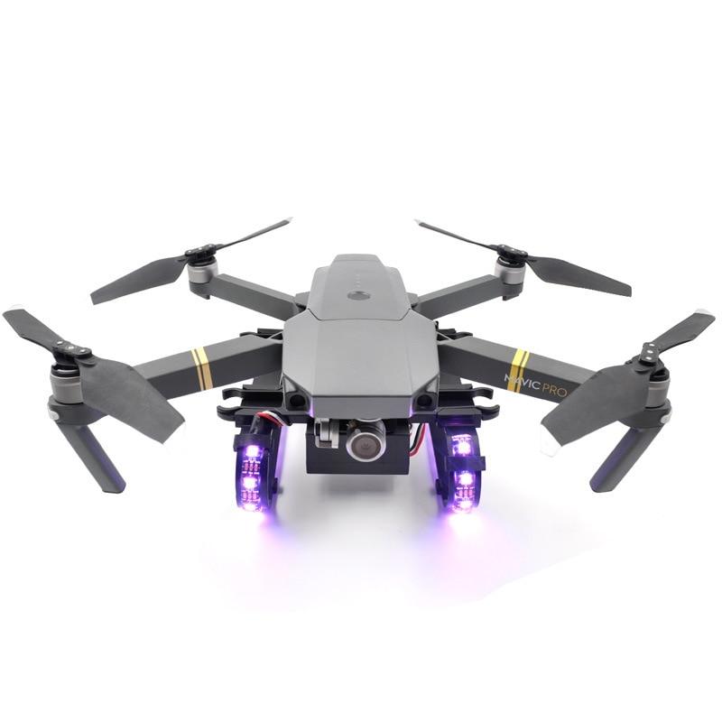 Garde de protection de cardan de lentille de jambe de montée prolongée de train d'atterrissage de lumière LED pour des accessoires de Drone de DJI mavic pro