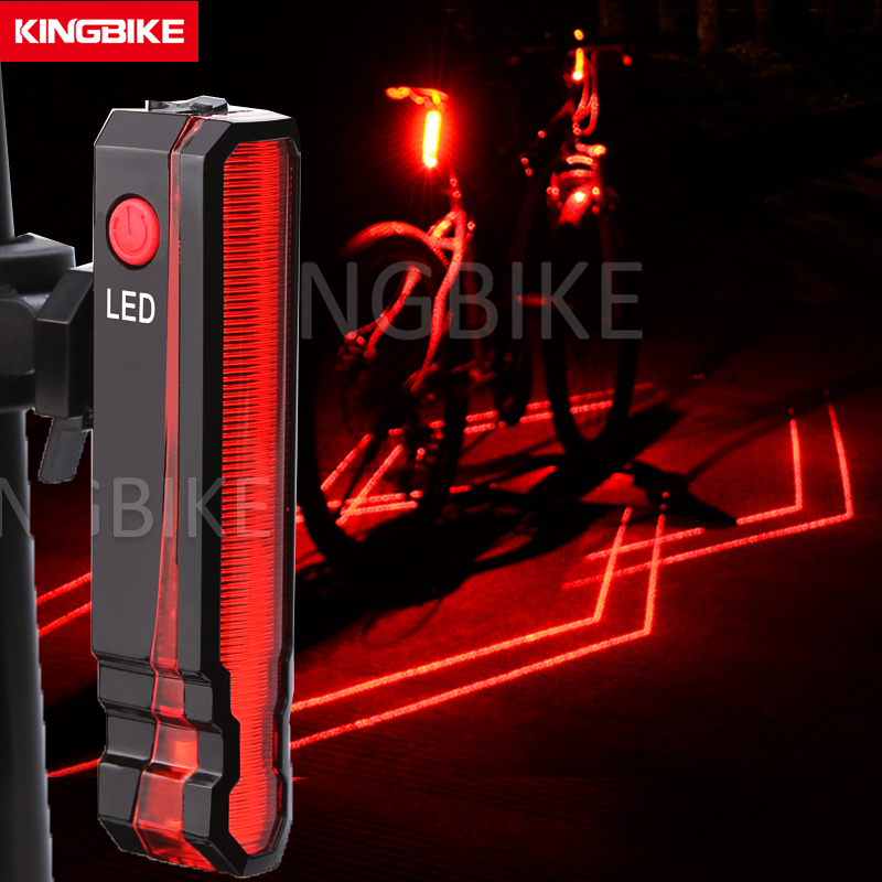 Bike Light LED Rear Taillight 4 Laser Line USB Rechargeable Bicycle Back Light MTB Tail Light Waterproof luz trasera bicicleta все цены