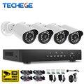 Techege 4CH 1080 P AHD DVR Система ВИДЕОНАБЛЮДЕНИЯ 1080 P Sony IMX322 AHD ИК Всепогодный Открытый CCTV AHD Камеры Главная Система Безопасности P2P