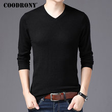COODRONY marque Pull hommes col v Pull Homme automne hiver 100% Pure laine mérinos chandails doux chaud cachemire Pull hommes 93002