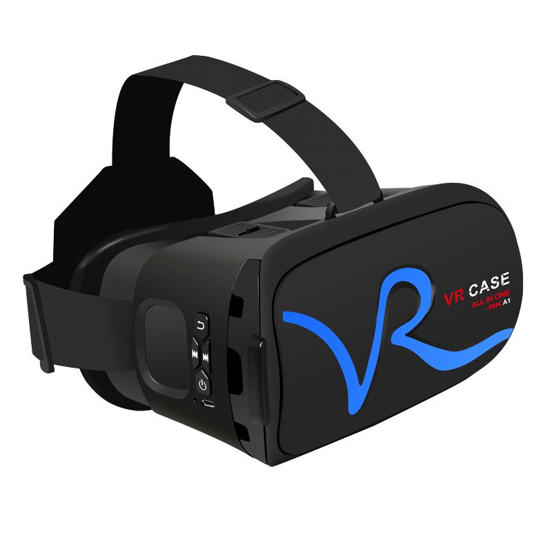 цена на All IN ONE VR Glasses VR CASE RKA1 VR Headset Virtual Reality Glasses for 4-5.8 inches iPhone Mobile 3D IMAX Touch Control Blue