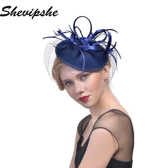 Lace Veils Tulle Headwear Flower veil hats Gothic Lolita Fancy Hat Women  Felt Fedora Hat Ladies Feathers Fascinator Chapeu ca48a280a6e