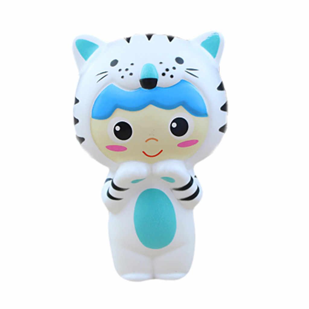 Очаровательны Squishies милый тигр ребенок снятие стресса Ароматические супер замедлить рост игрушка Хлюпать антистрессовые игрушки 19May06 P35