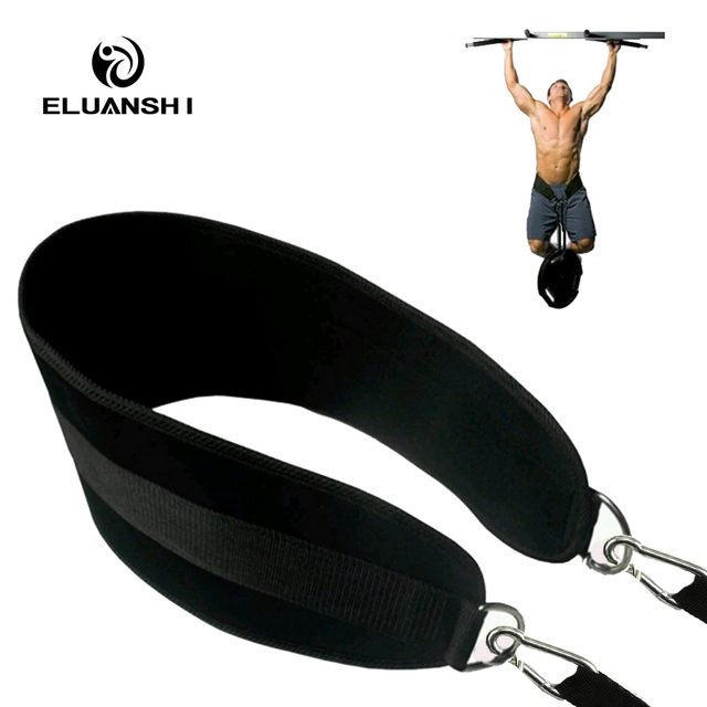 Fitness Equipments Drop Shipping Dip Belt Weight Lifting Gym Body Waist Strength Training Power Building Dipping Chain Pull Up