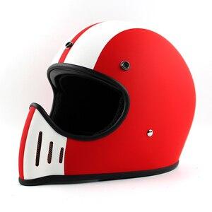 Image 5 - Ttの共同トンプソンmoto rcycleヘルメットフルフェイスcasqueヴィンテージヘルメットチョッパーゴーストライダーレトロヘルメットcasco moto