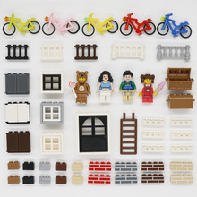 City Friends Accessories Building Blocks House Parts Door Window Fence MOC Brick Educational Toys Children Compatible LegoINGlys