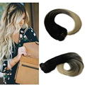 1B 613 Blonde Ombre 100% Human Hair Clip in Extensions Two Tone Balayage 7Pcs 10 Pcs Blonde Clip Hair Extensions Full Head BY93