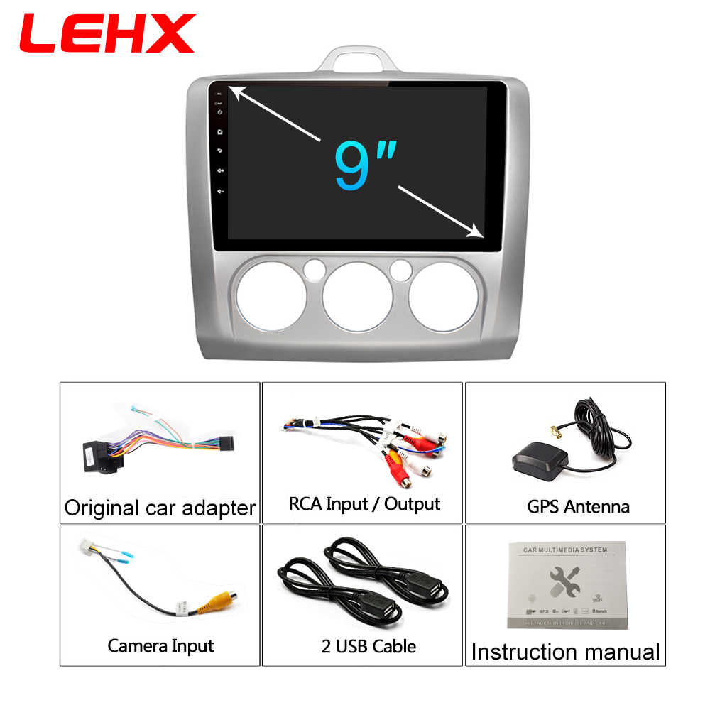 LEHX 車アンドロイド 8.1 Gps ナビゲーションカーラジオマルチメディアビデオフォードフォーカス 2 3 2006-2011 ハッチバックなし 2 din dvd