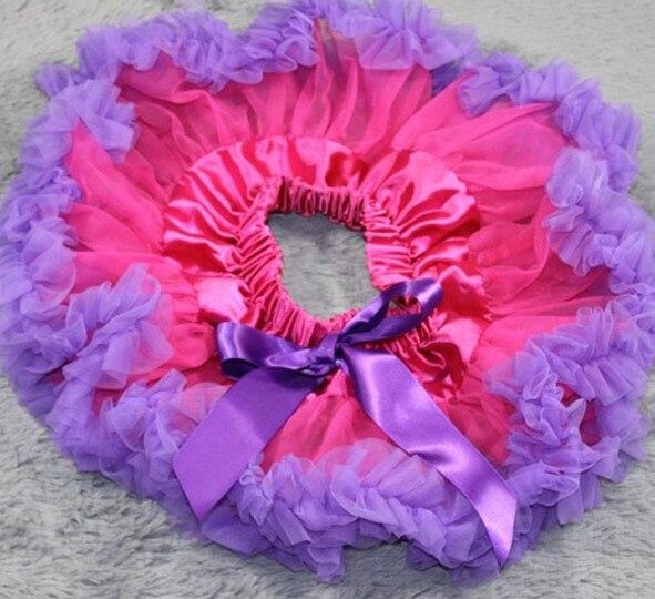 Настроить юбка-пачка новорожденных юбка-пачка ярко-розовый цвет и фиолетовый Pettiskirts Детские юбка-пачка - Цвет: Фиолетовый