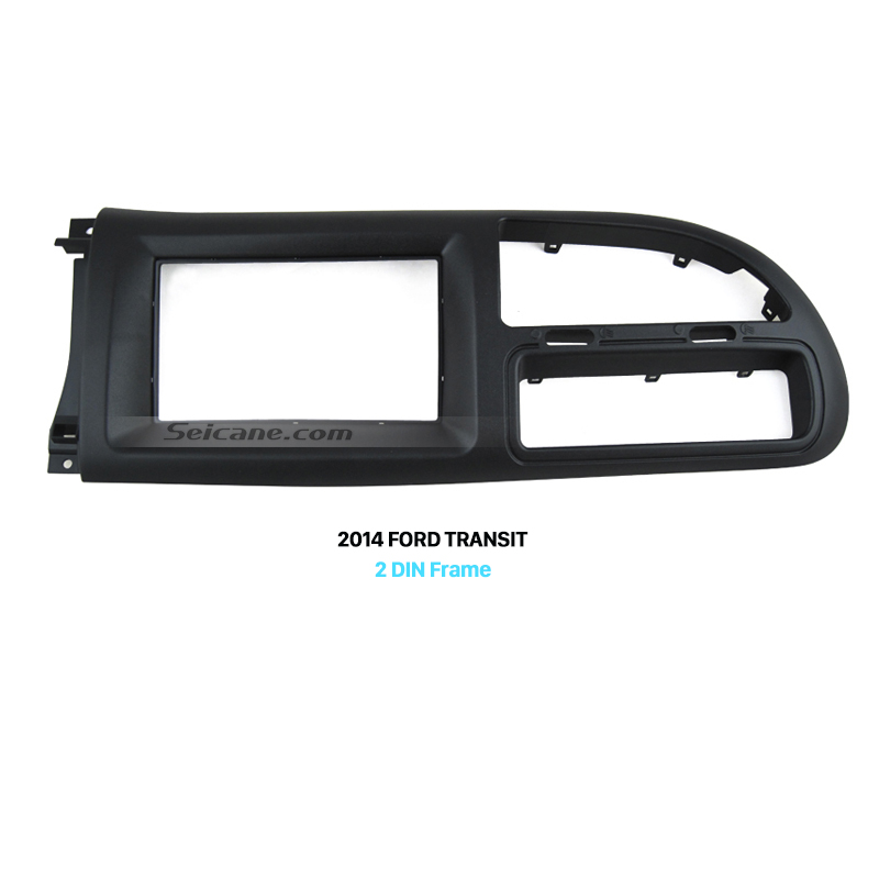 Seicane Double Din Car Radio Fascia Panel Frame for 2006 2007 2008 2009 2010 2011 2013 Ford Transit DVD Player Plate Trim Bezel