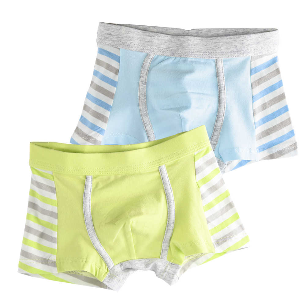 c7813164a2611 2 Pcs/lot Kids Boxers Soft Organic Cotton Boys Shorts Panties Baby Stripes  Teenager Underwear for Boy Children's Underwear 2-16y