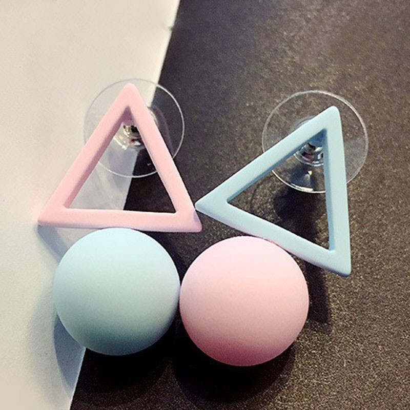 LNRRABC Fashion 1Pair Aiffry Triangle Different Candy Color s