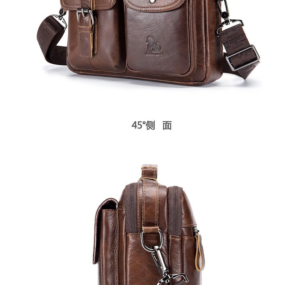 HTB1aIdhXyfrK1RjSspbq6A4pFXak men Genuine Leather Shoulder Messenger Bag men's Handbag Vintage Crossbody Bag Tote Business Man Messenger Bag