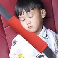 Almohada de coche de seguridad para niños, cojín para cinturón de seguridad para reposacabezas de asiento de coche