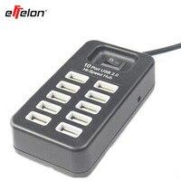 Effelon Hallo-Speed 10 Port USB 2.0 Ladegerät mit Led-lampe für PC Laptop Tablet Für Macbook Computer Adapter Für Mobile telefon