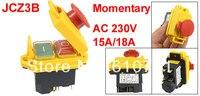 Model JCZ3B Waterproof Botton 5 Pin SPST Momentary Waterproof Electromagnetic Switch 230VAC 15A 18A
