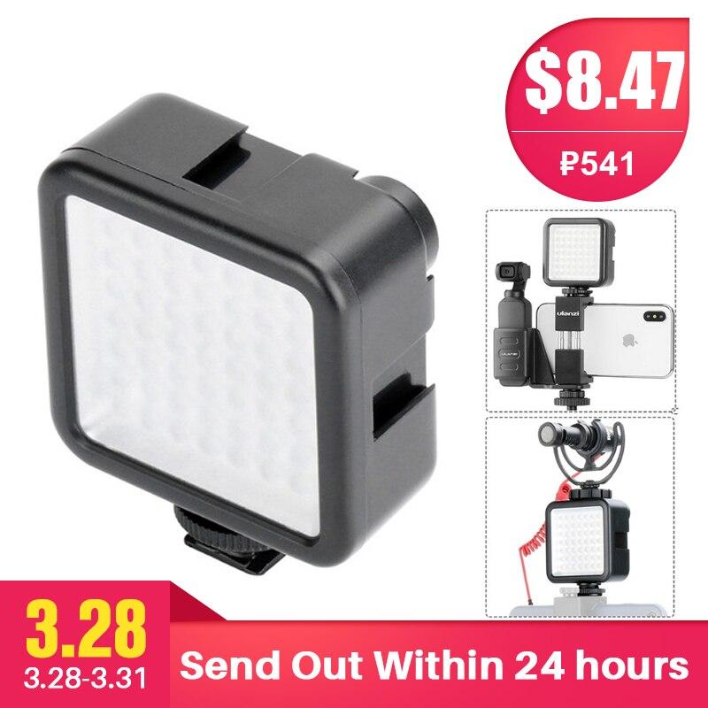 Tasche auf Kamera Mini LED Video Licht Fotografie Füllen Licht 3 Hot Shoe Mount für DJI Osmo Tasche Nikon Sony a6400 A6300 Gimbals