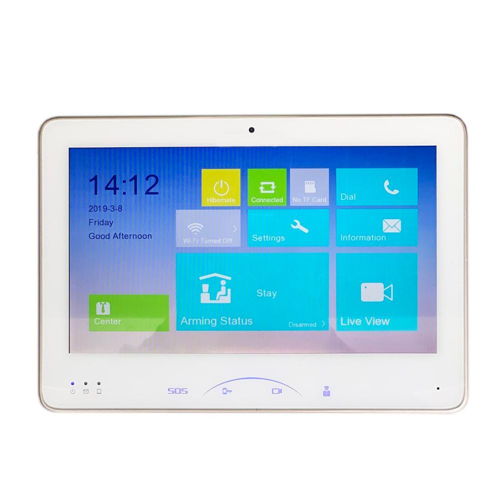 HIK Multi-idioma DS-KH8501-WT 10-polegada Toque Monitor Interno, IP campainha, Vídeo Porteiro, campainha com fio, câmera build-in Wi-fi