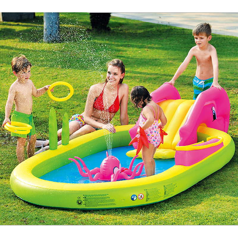 Large size baby swimming pool garden inflatable pool children baby swimming pool ball pool basin bestway round baby pool baby wading pool thick folder mesh stent pool children bathing pool 152 38cm
