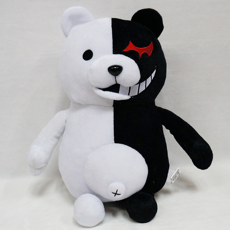 1pcs Cute Cartoon Dolls Dangan Ronpa Monokuma Doll Plush Toys Black White Bear Kids Toys Child Birthday Gifts 25-70cm free shipping cute 4 nendoroid monokuma super dangan ronpa anime pvc acton figure model collection toy 313 mnfg057