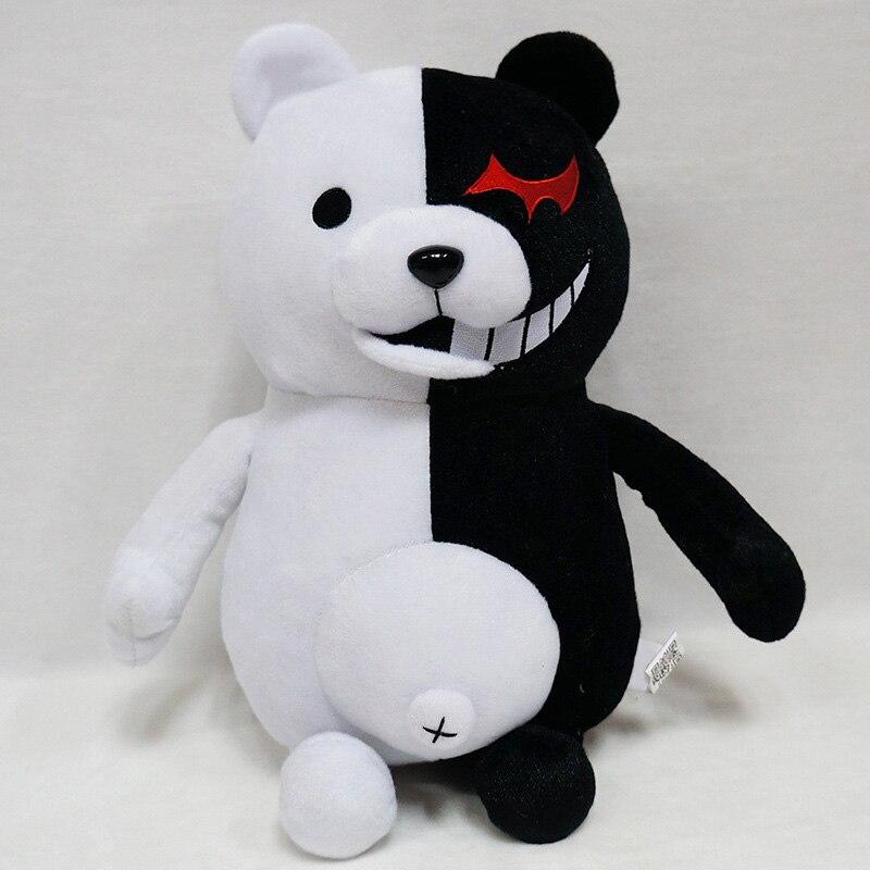 1pcs Cute Cartoon Dolls Dangan Ronpa Monokuma Doll Plush Toys Black White Bear Kids Toys Child Birthday Gifts 25cm 35cm