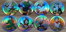 40 pcs/lot Dragon Ball Flashing Cards Round Paper Collection Card Toy