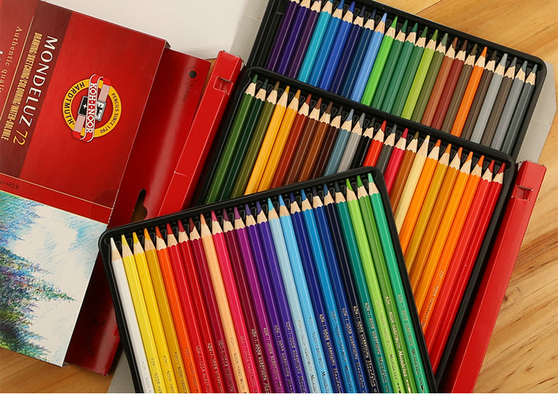 koh i noor mondeluz aquarelle watercolor pencil set 36 assorted colored pencils hlpsocialsquare com