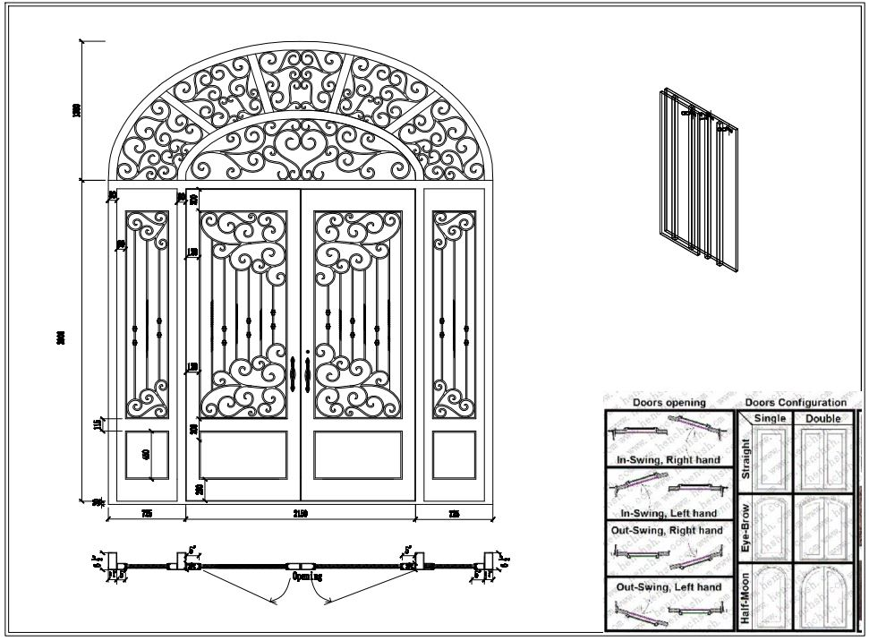 Metal Gate Door Wrought Iron Door Decor