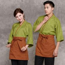 2017 Japanese cuisine chef wear Man&Woman Japanese waitress uniform Kimono Tops