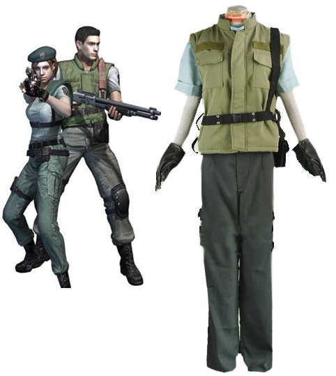 Us 89 0 Chris Redfield S T A R S Uniform Cosplay Costume Full Set Custom Made Any Size In Anime Costumes From Novelty Special Use On Aliexpress