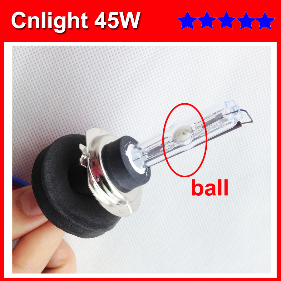 car headlight HID bulb cnlight 45w ball bulb hid xenon lamp H1 h3 h7 h8 h9 h10 h11 9005 9006 hb4 880 881 for hid kit 12v 24v