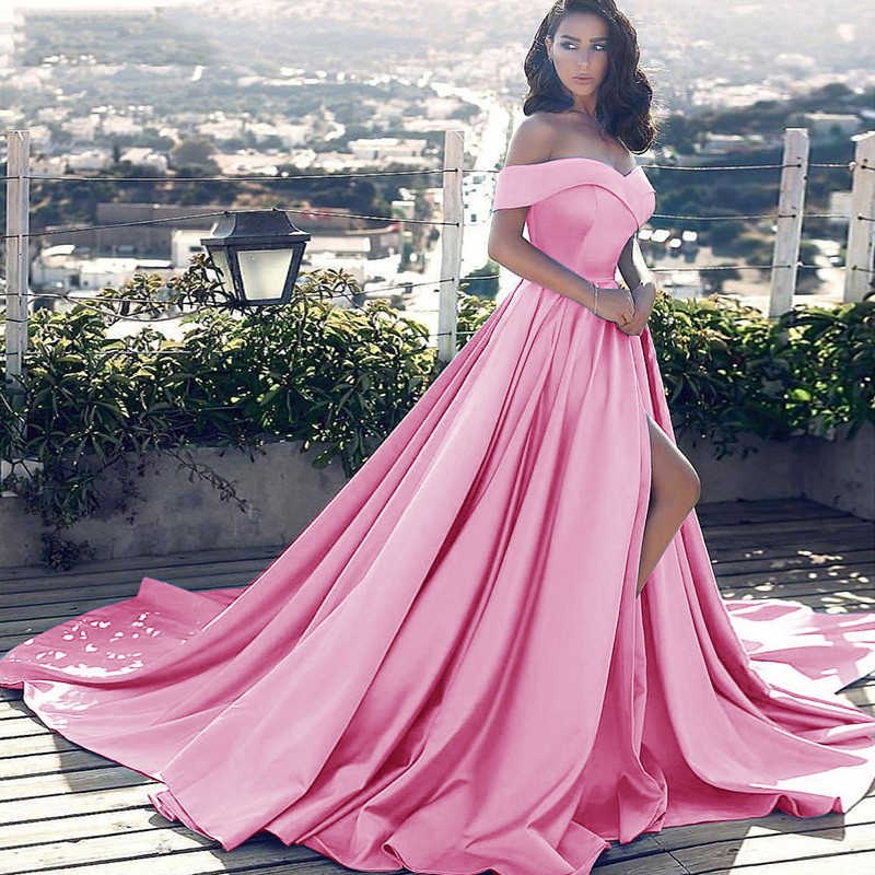 Vestido longo luxury   evening     Dresses   stain off the shoulder royal prom   dress   2019 new year Formal party   dress   Vestido De Noiva
