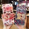 Супер Красивый мультфильм Даффи медведь Микки Минни Маус мягкие tpu телефон case Задняя Крышка Для Apple iPhone 6 6 S 7 Плюс НОВЫЕ