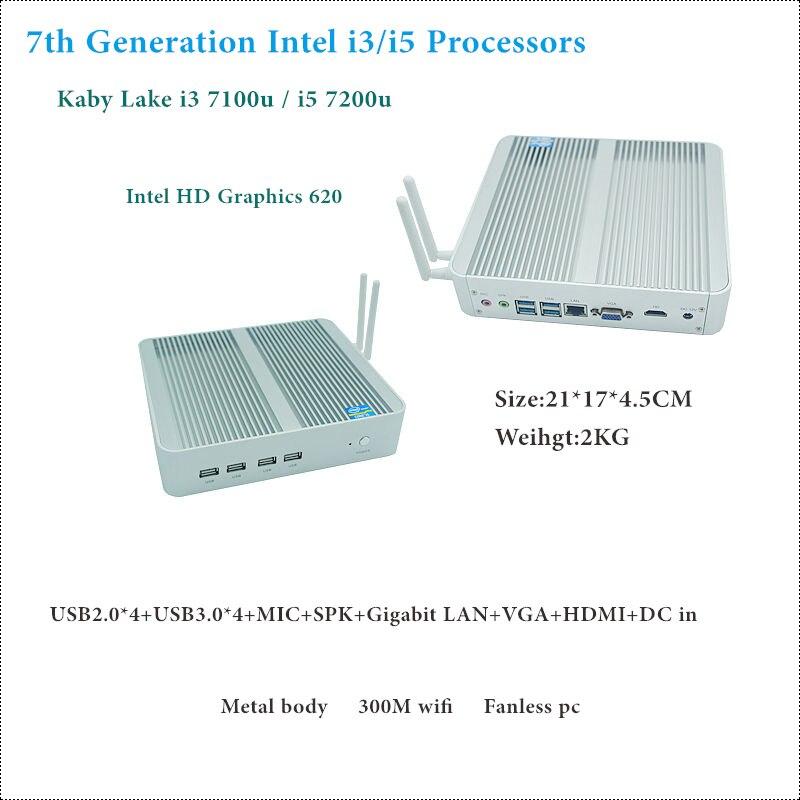 Freeshipping 7200u intel core i5/i3 7100u séptima generación kaby lago win10 sin