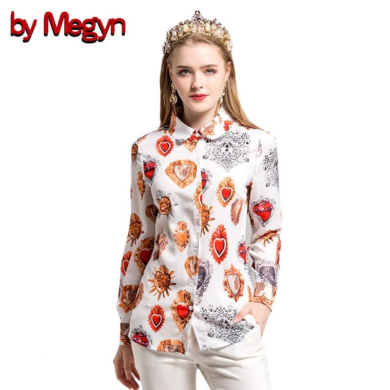 by Megyn 2017 women shirts long sleeve shirt love print shirt black white blouse women blouses plus size XXXL feminine shirts