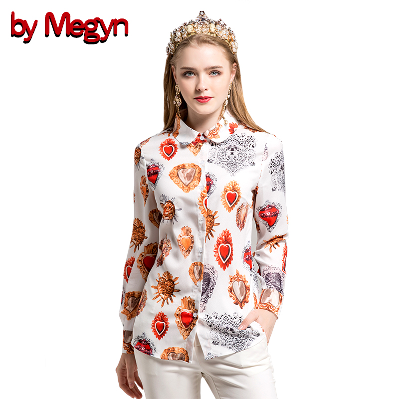 by Megyn 2017 women shirts long sleeve shirt love print shirt black white blouse women blouses plus size XXXL feminine shirts