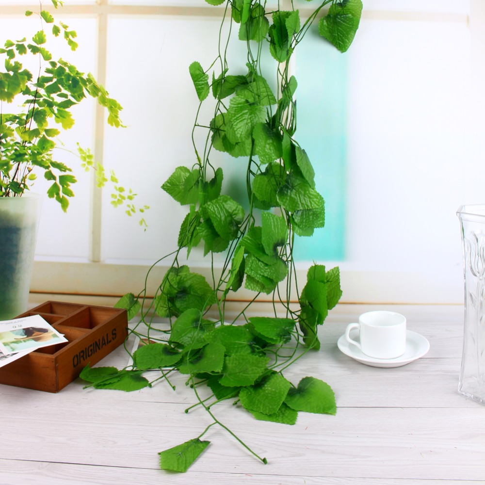Online get cheap plastic grape vines for Artificial grape vines decoration