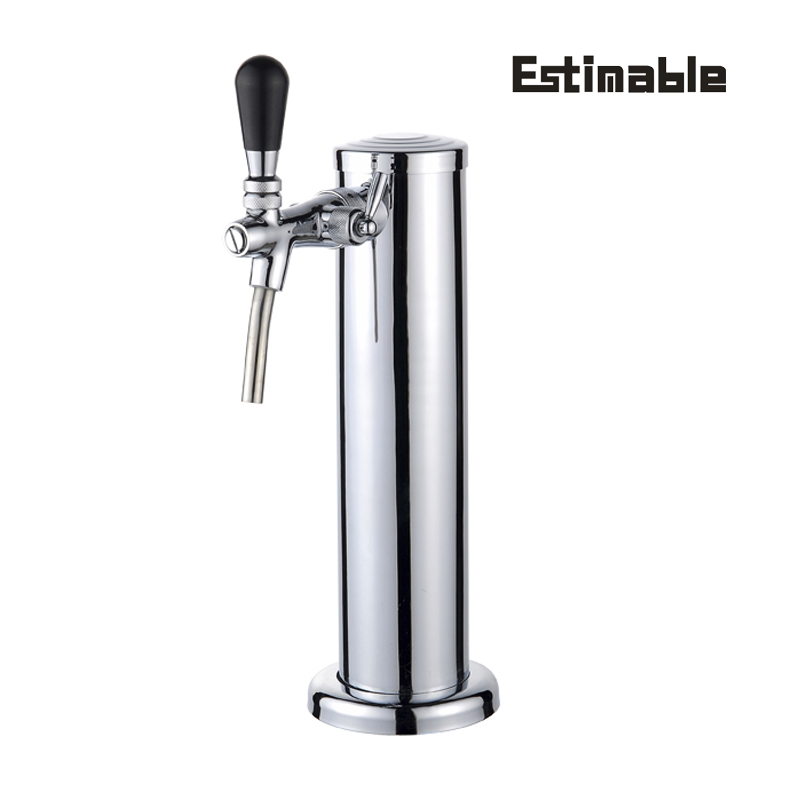 Home Brew One Tap Beer Tower  With Control Foam Tap Homebrewing Stainless Steel Beer Tower Come With Hose Pipe Bar Accessories