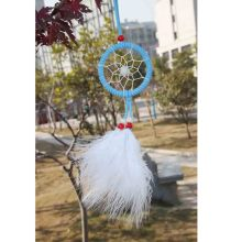 White Feathers Circle Dream Catcher Wall Hanging Decoration Car Ornament