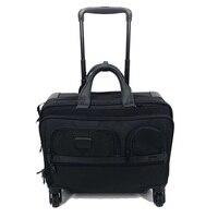 Мужской Бизнес багаж 17 дюймов чемодан дорожная сумка с колесиками известный бренд чемодан сундук