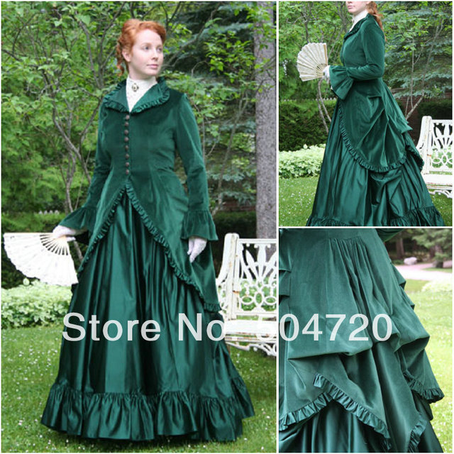46e52444203a 1890s Victorian Corset Gothic/Civil War Southern Belle Ball Gown Dress  Halloween dresses Sz US 6-26 XS-6XL V-12253